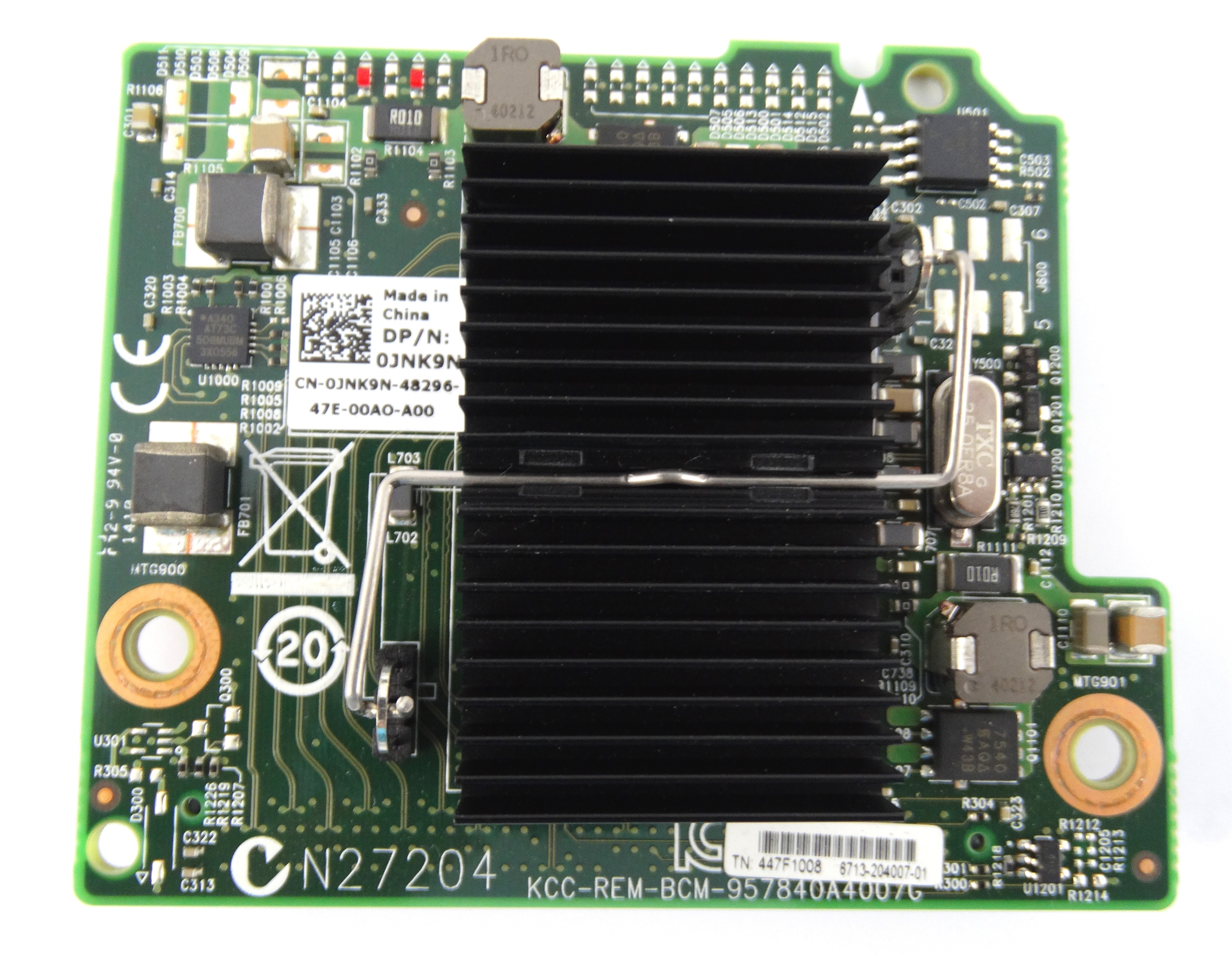 Dell Broadcom 10Gbe 4 Port Daughter Card (JNK9N)