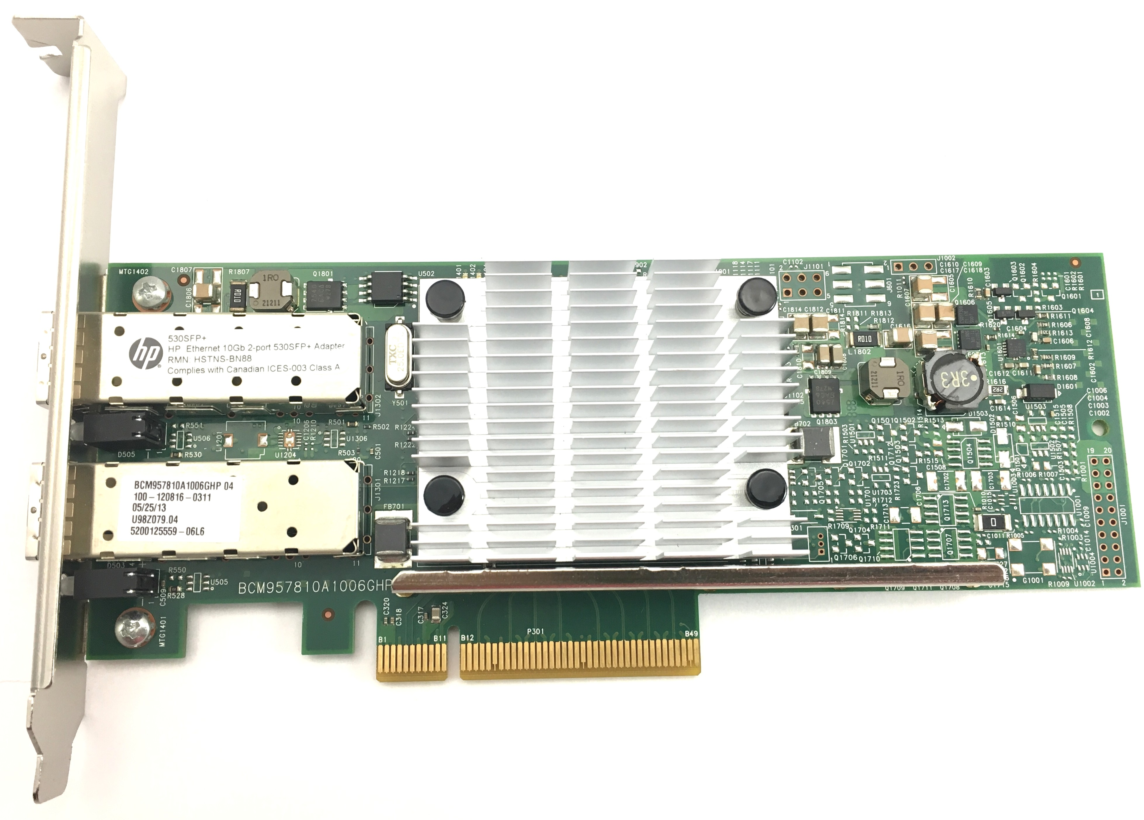 HP Ethernet 10GB 2-Port 530SFP+ Adapter Card (656244-001)