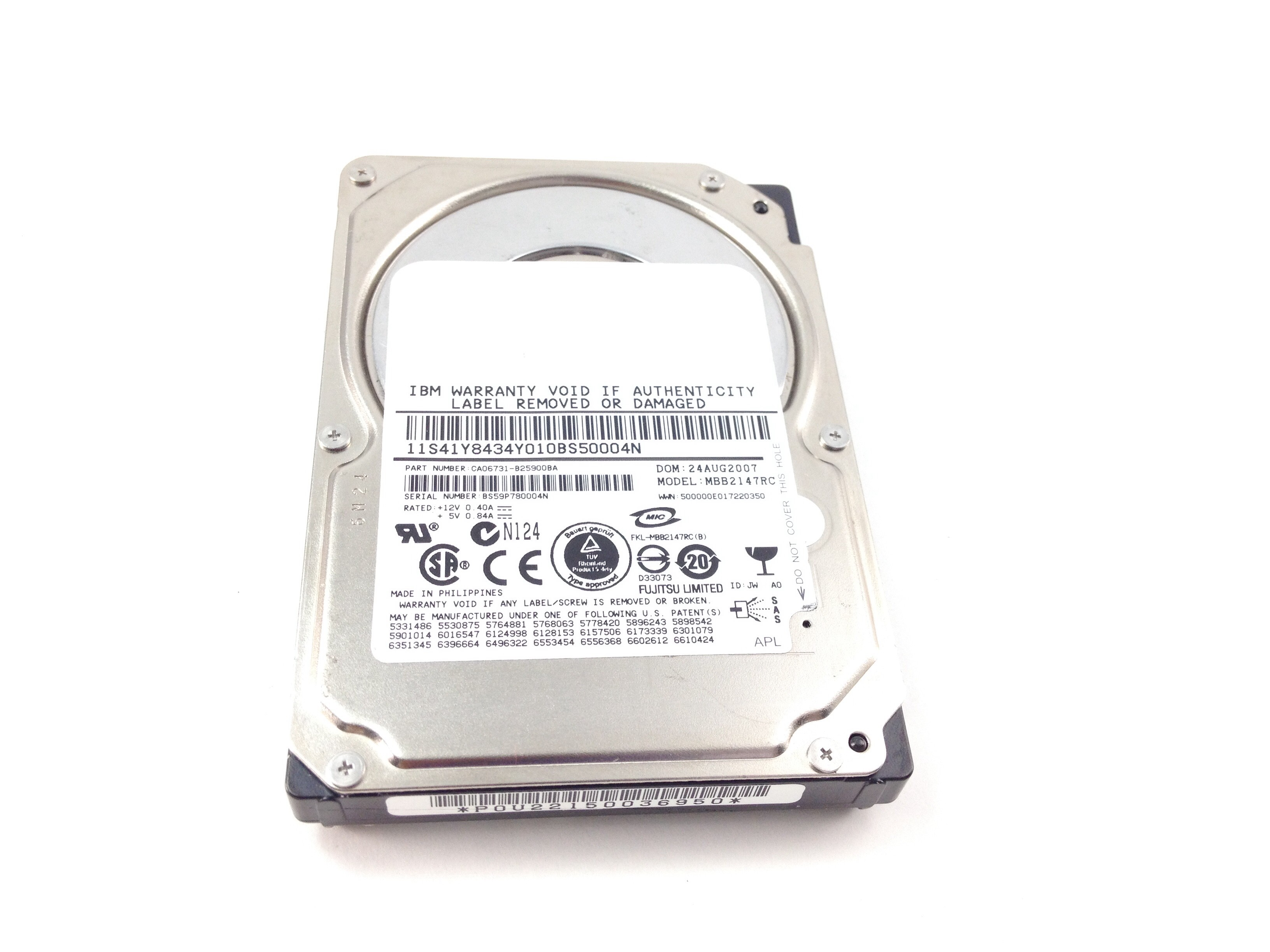 IBM 146GB 10K SAS 2.5'' Hard Drive (41Y8434)